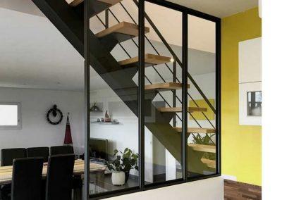 escalier acier disigne nancy