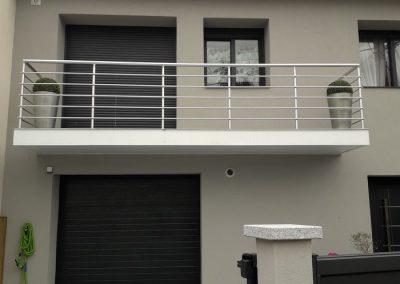 garde corps aluminium balcon exterieur