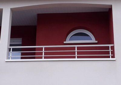 garde corps aluminium demi balcon 10