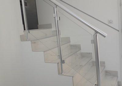 garde corps aluminium escalier interieur verre nancy