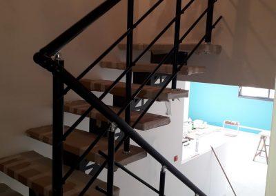 garde corps aluminium noir escalier interieur nancy