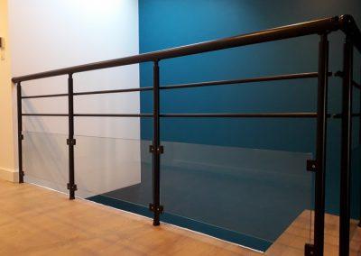 garde corps aluminium noir interieur verre nancy