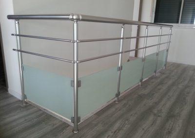 garde corps aluminium verre tremis escalier interieur