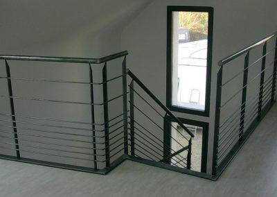 garde corps en acier escalier nancy