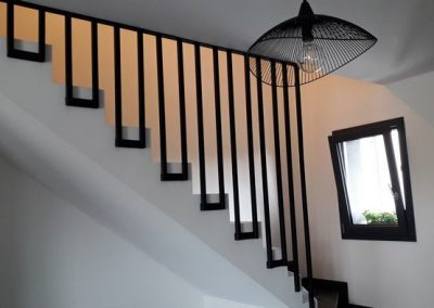 garde corps en acier pour escalier