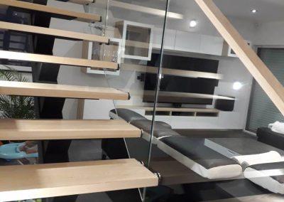 garde corps en verre escalier interieur