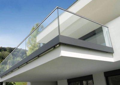 garde corps verre balcon nancy